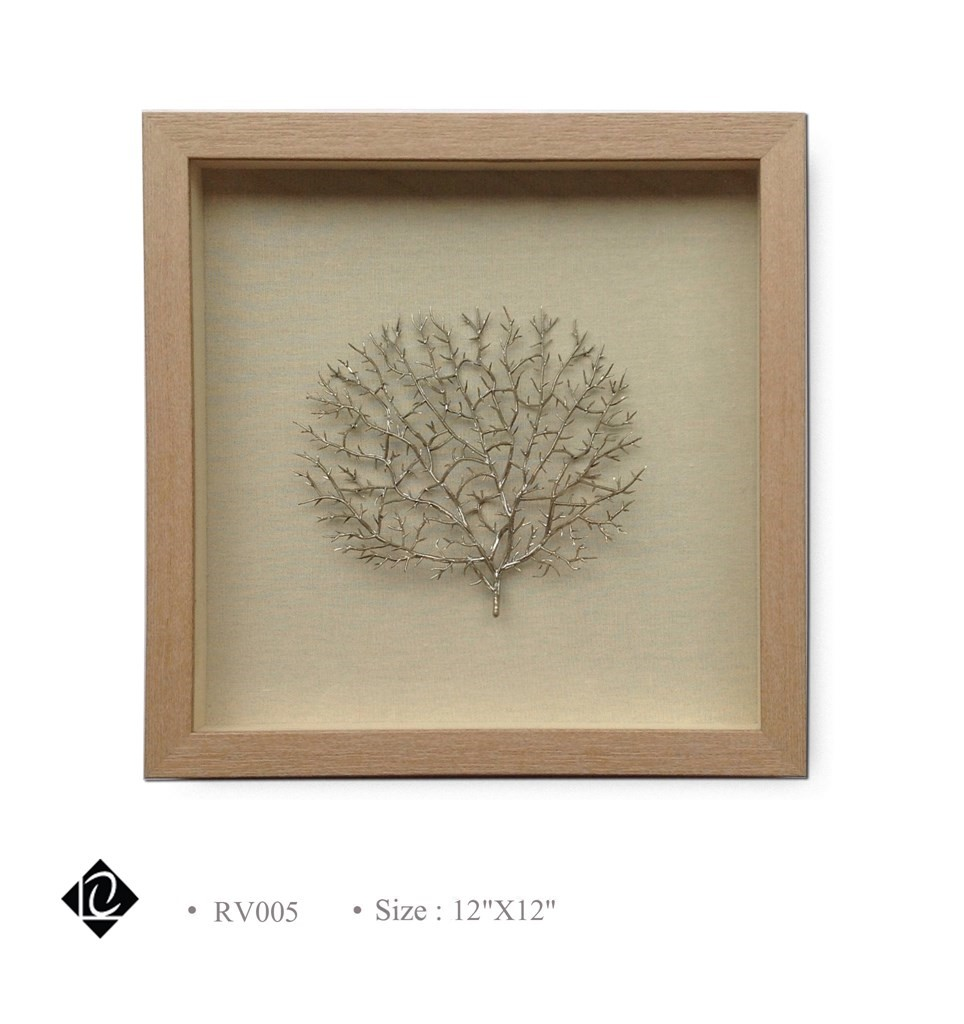 Framed Champagne Sea Fan