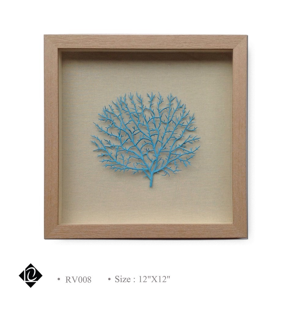 Framed Blue Sea Fan