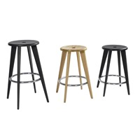 Bar Stool Solid Timber/Chrome